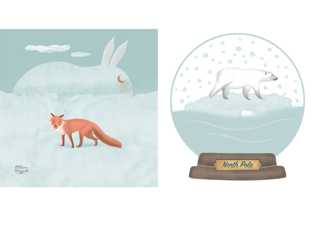 snowball and fox snow