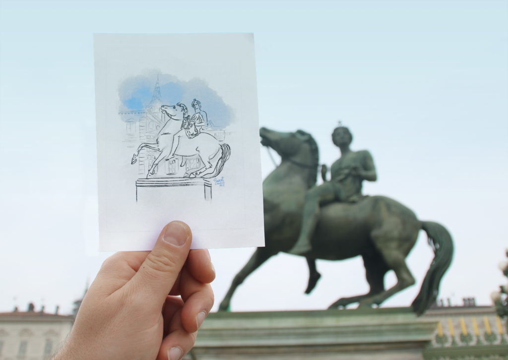 Equestrian statue sketch - Royal Palace Turin
