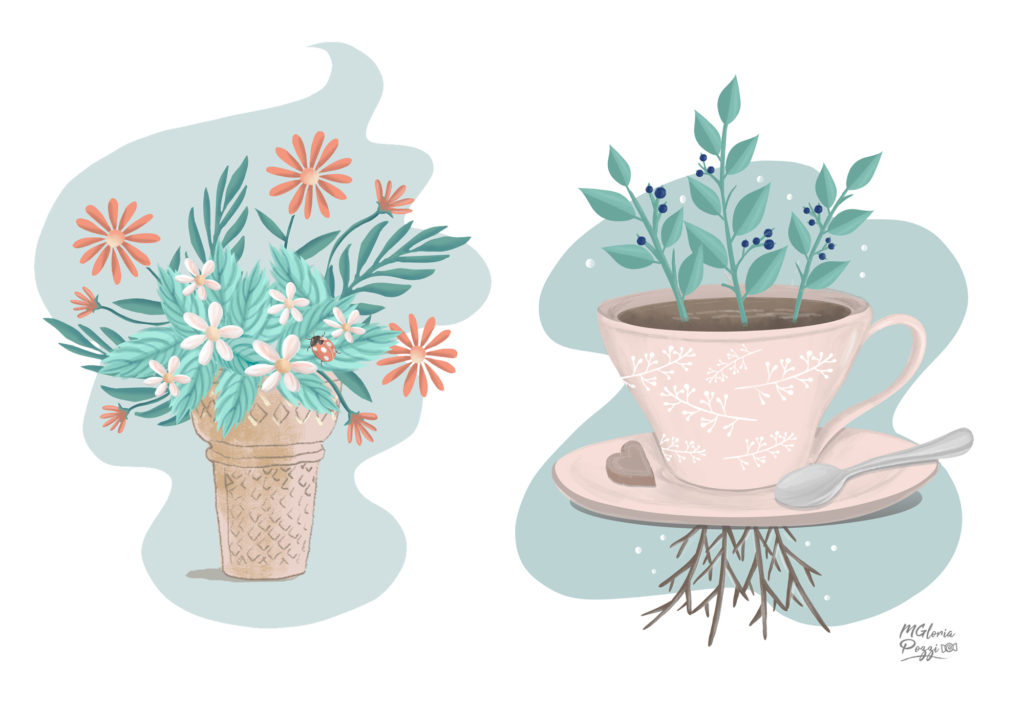 illustration of Nature ice cream taste - Spring Coffee by Sweetcandyroll