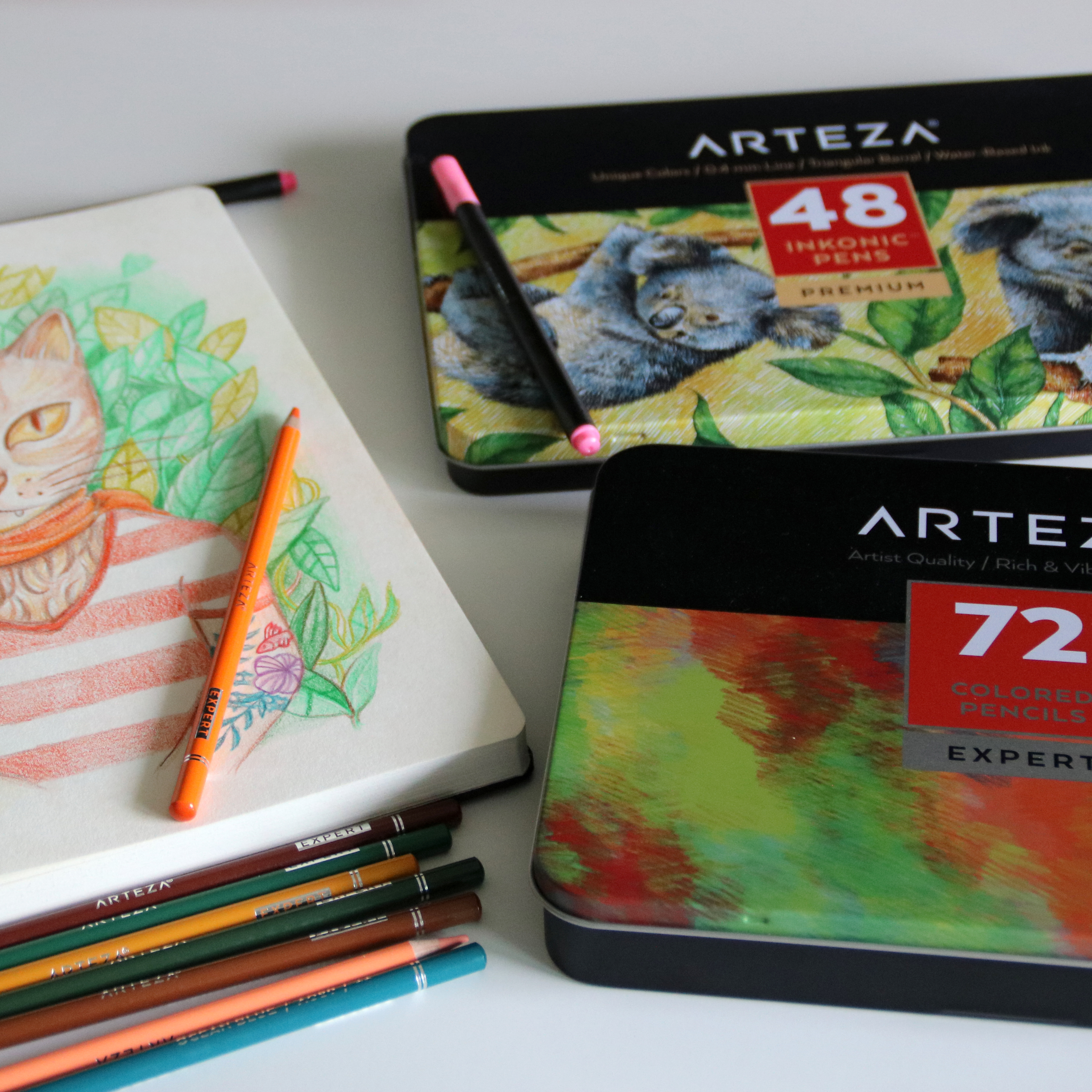Products Arteza Pencils and colors