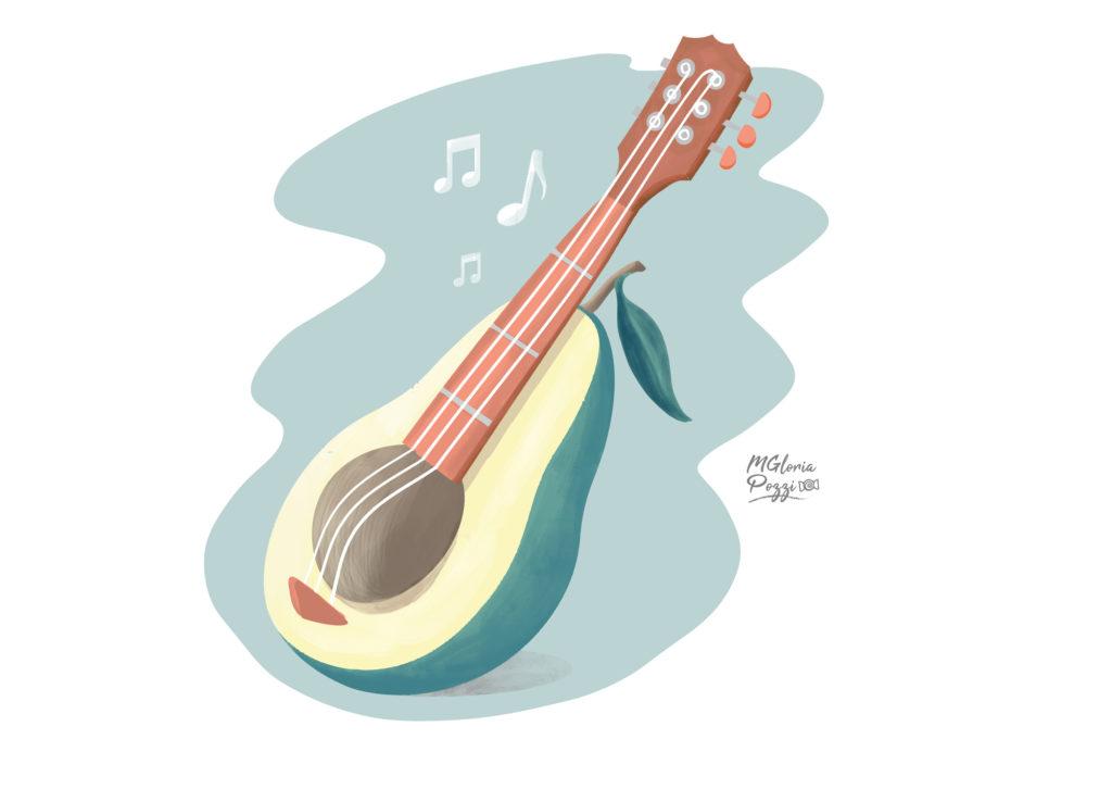 Avocado Sound, avocado transformed into a musical instrument!