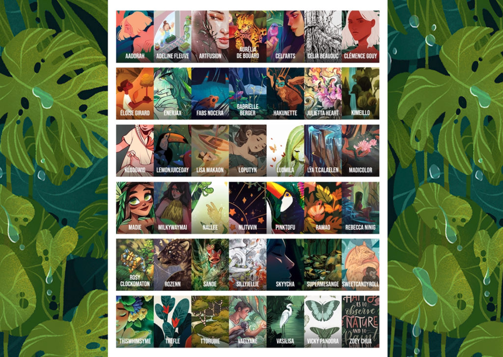 The artists who are part of Grow Artzine