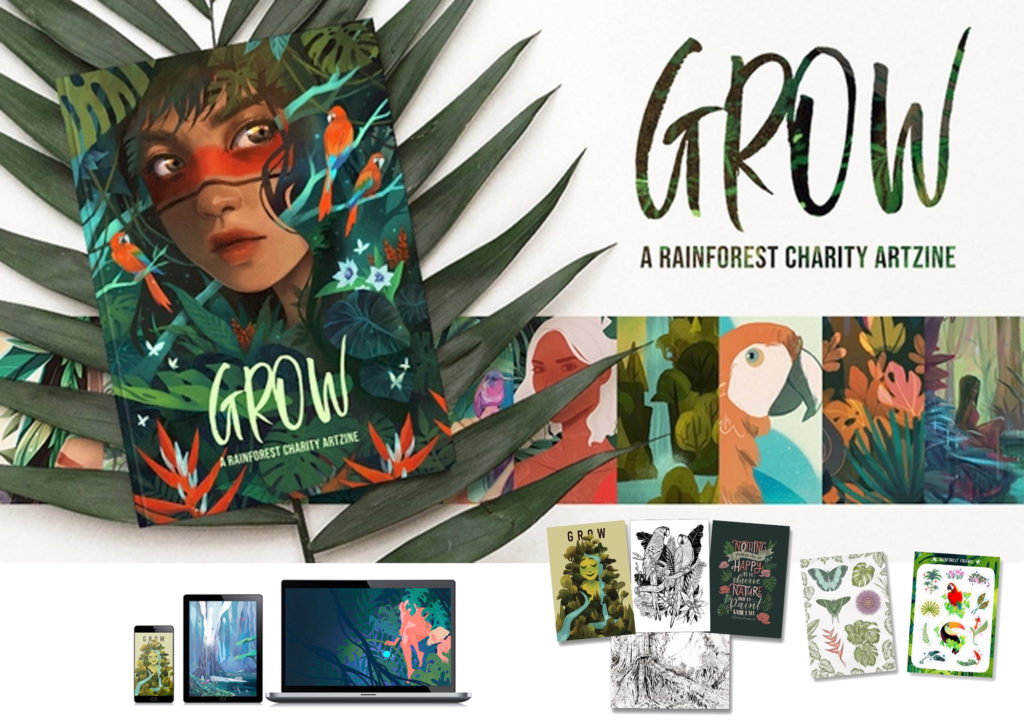 Artbook and Artist Products - Grow a rainforest charity
