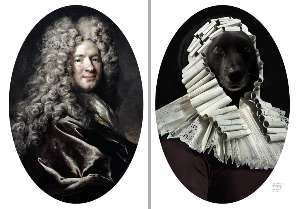 Nicolas De Largilliere Portrait of a Man in a Purple Robe - Paco Dog - by Sweetcandyroll