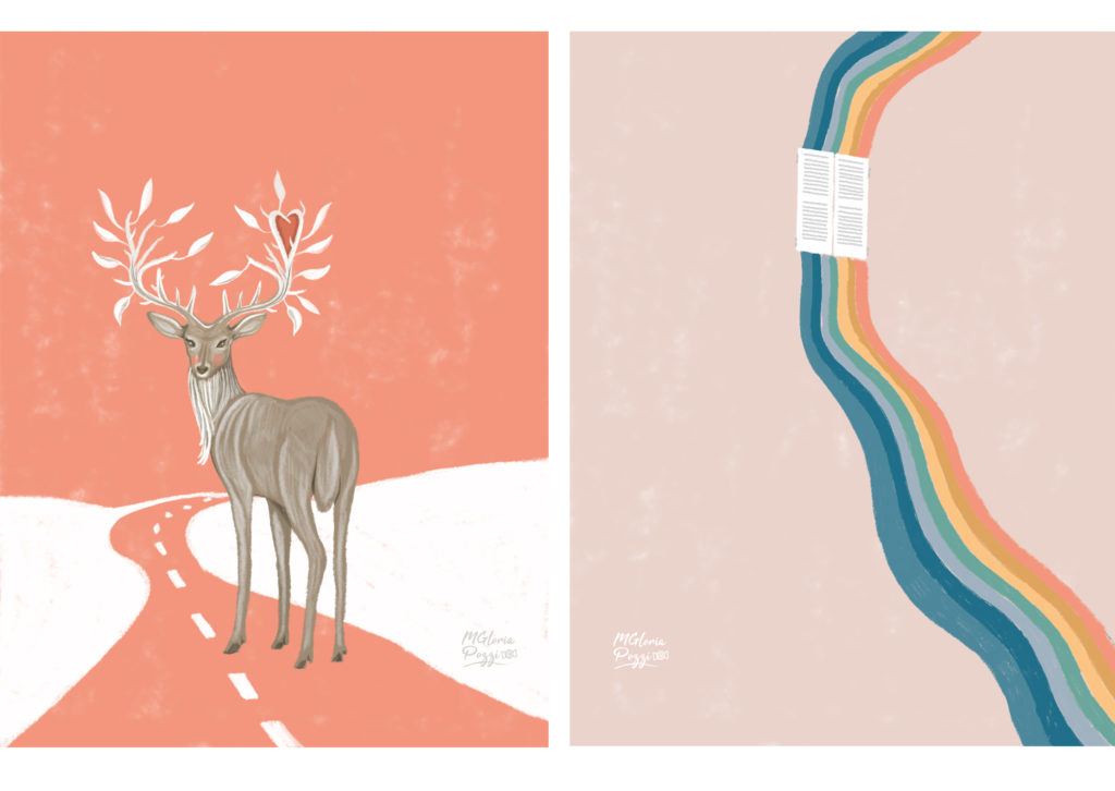 4 illustrations in a metaphorical key