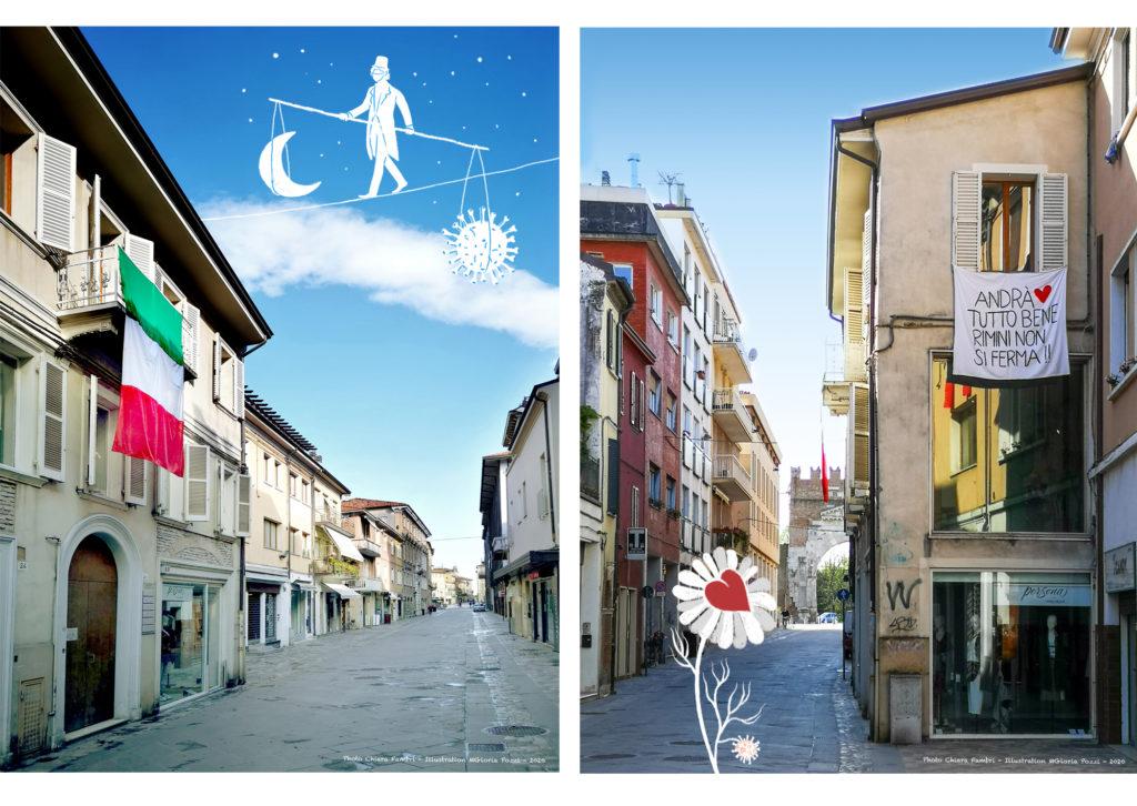 illustrazioni e foto a Rimini Italia - illustrations and photos in Rimini Italy