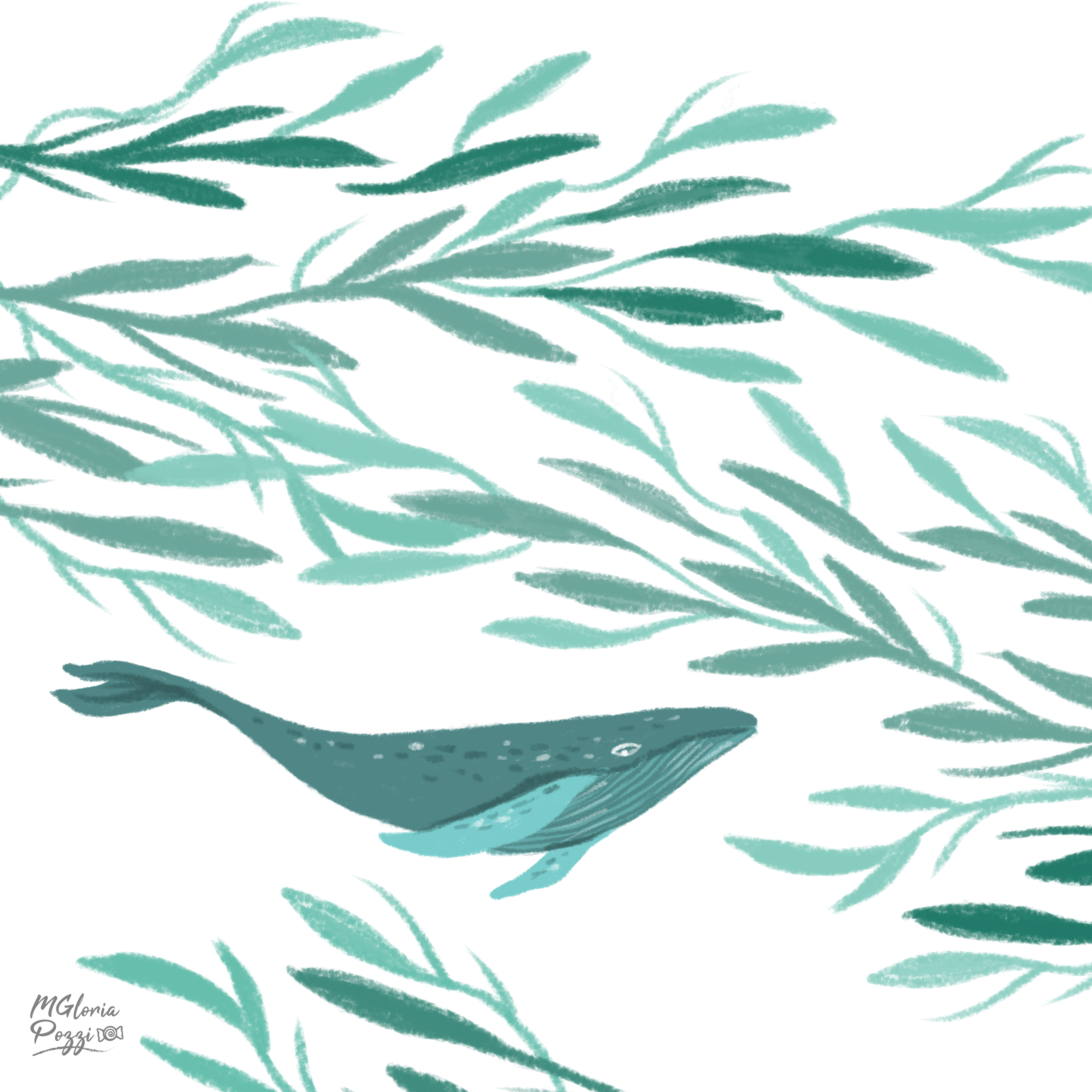 Whale on Society6