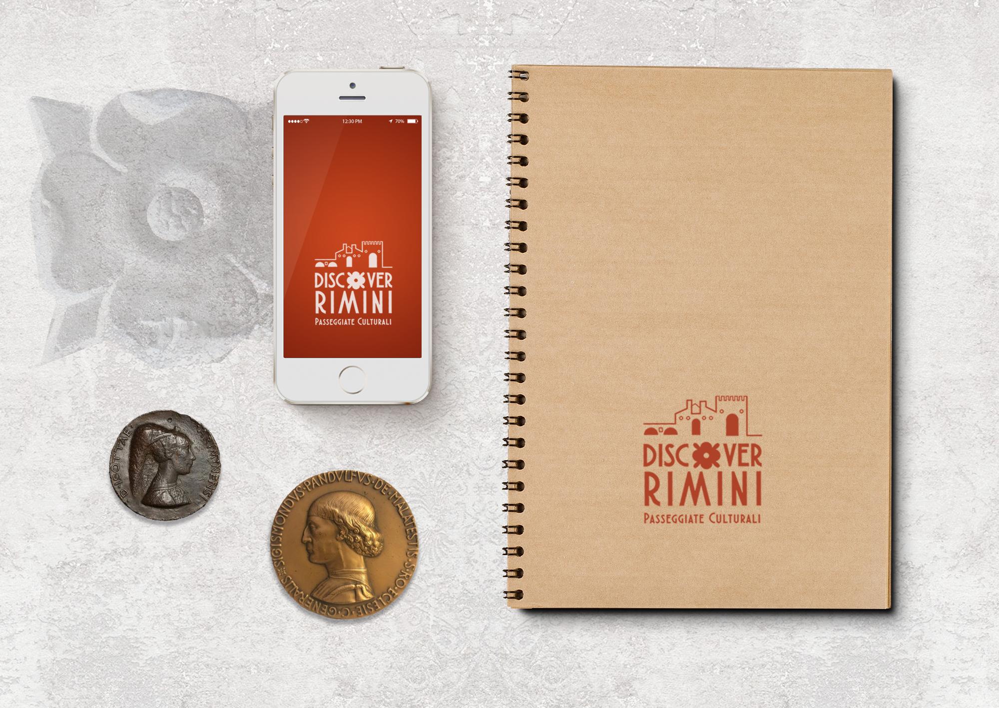 Logo Discover Rimini - Blocco e IPhone - by Sweetcandyroll - MGloria Pozzi