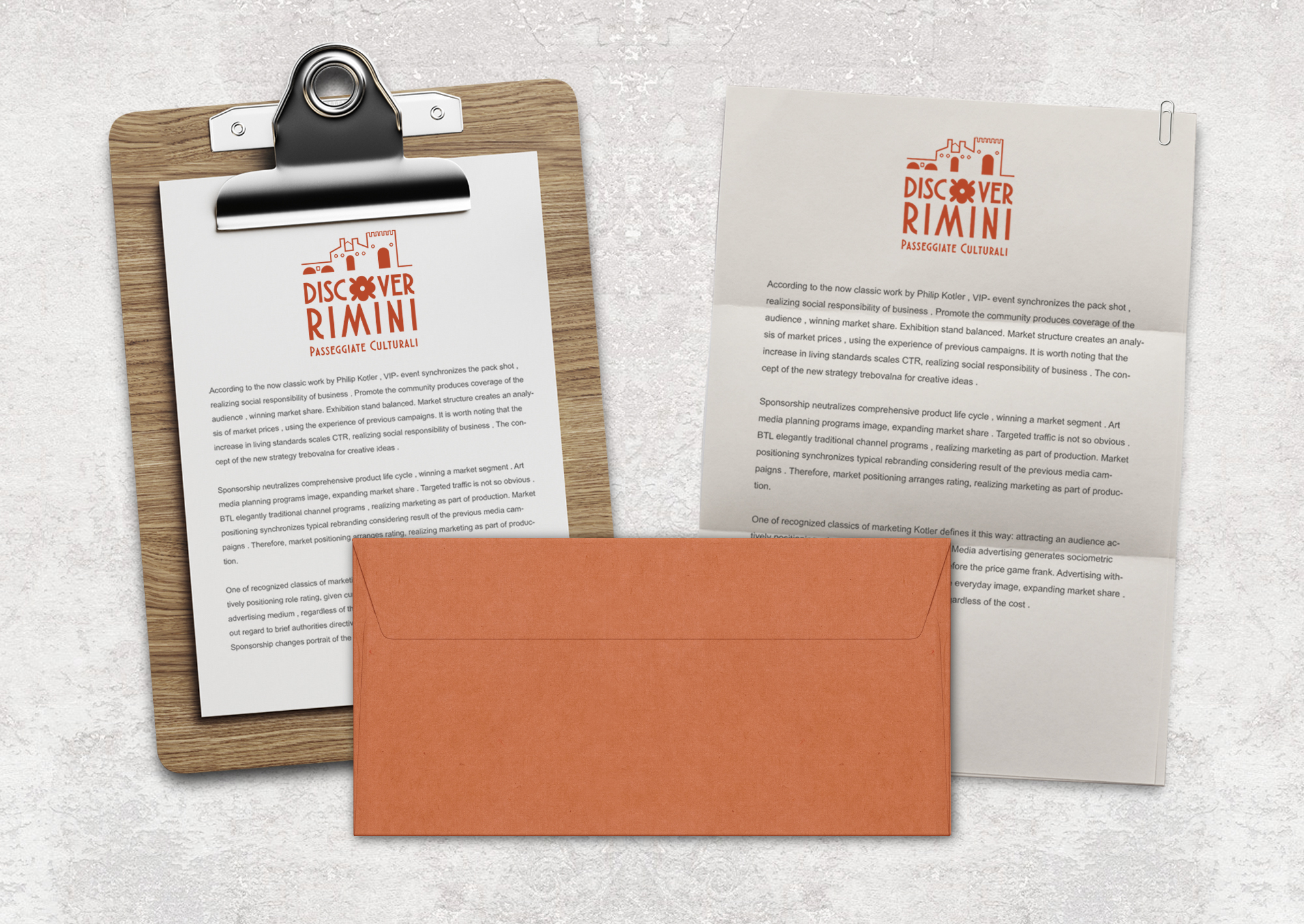 Carta da lettere - Busta - Discover Rimini - By Sweetcandyroll - MGloria Pozzi