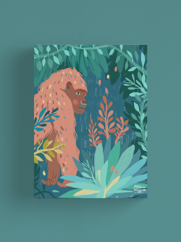 jungle-gorilla-canvas-sweetcandyroll