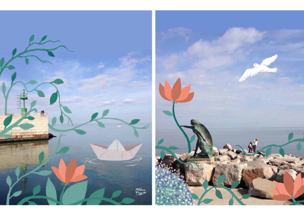 Il mare di Rimini surreale - By sweetcandyroll